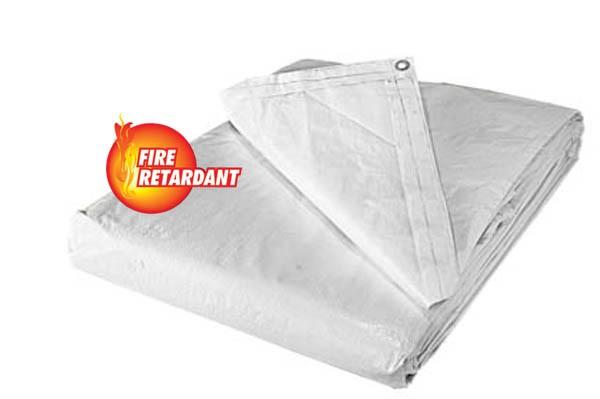 white tarp